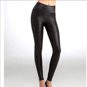 Spanx Faux Leather Leggings Black S/P